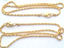 Gold Plated link chain. Pack of 2.